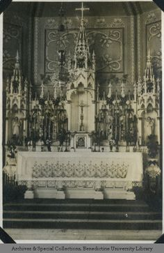 'Students Chapel at S.P.C.' | St. Procopius College (now Benedictine University) | 1921