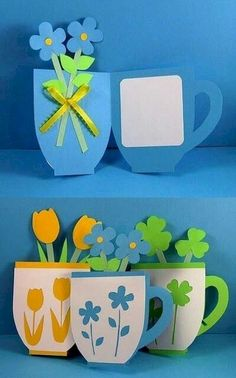 You are in the right place about simple Mothers Day Crafts for Kids Here we offer you the most beaut Mothers Day Crafts For Kids, Mothers Day Cards, Diy And Crafts, Arts And Crafts, Paper Crafts, Diy Y Manualidades, Spring Crafts, Flower Crafts, Diy Cards