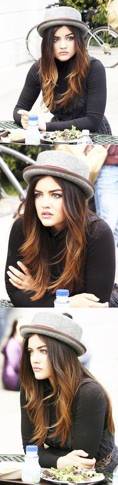 Lucy hale (Aria)v- ombré hair