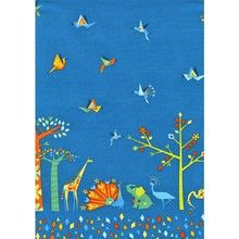 Michael MIller - Origami Oasis - Oasis Border (Blueberry) Fabric