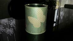 Pot a crayon liberty papillon merci maitresse - cadeau 2015 Pots, Pot A Crayon, Canning, Butterflies, Gift, Home Canning, Cookware, Jars, Conservation