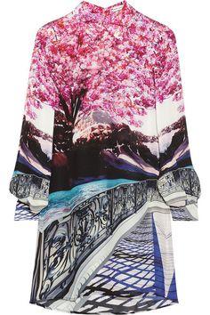 Mary Katrantzou silk shirt dress