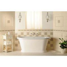 """Original Style 6020B Symmetrical Classical Quarter Tile 152 x 38mm   6 x 1 1/2"""" decorative tile"""