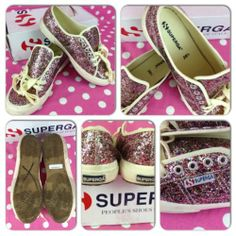 Superga Multi Chunky Glitter Casual Sneakers Walking Shoes 2750 Womens Size 8 5 | eBay