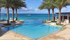 the iconic pool at zemi beach house resort on shoal bay east