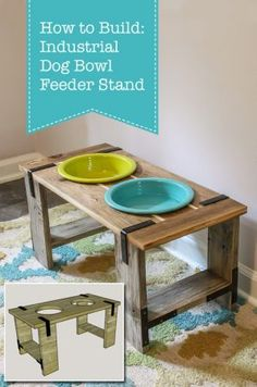 How to Build: Industrial Dog Bowl Feeder Stand | Pretty Handy Girl