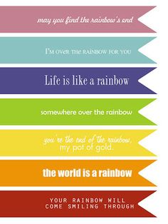 simple as that: st. patrick's day rainbow theme printables
