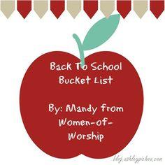 Back to School Bucket List   part of the summer bucket list series on blog.ashleypichea.com