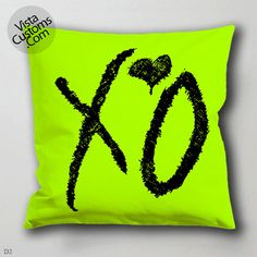 XO Weeknd  pillow case, cover ( 1 or 2 Side Print With Size 16, 18, 20, 26, 30, 36 inch )