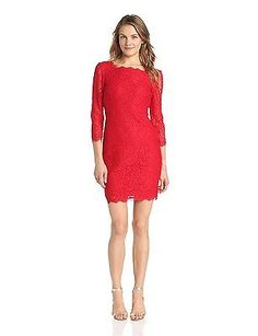 10 (US Size) (US Size), Red, Adrianna Papell 41864780 Tunic Women's Dress NEW