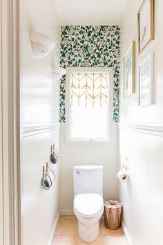 OneRoomChallenge, Week Six: The Final Reveal Bathroom Renos, Bathroom Interior, Bathroom Remodeling, Bathroom Storage, Quirky Bathroom, Water Closet Decor, Toilet Closet, Small Toilet Room, Toilet Room Decor