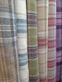Fabric by colour wool tartan curtain upholstery fabric2nd and 3rd from the right