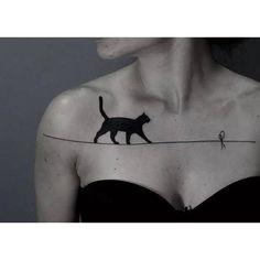 Temporary Black Cat Tattoo