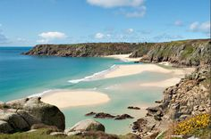 Porthcurno, Cornwall - 21 UK beaches to visit. I have heard this is a nudist beach. British Beaches, Uk Beaches, British Seaside, Cornwall England, Devon And Cornwall, West Cornwall, Yorkshire England, Yorkshire Dales, Places To See