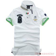 aeronautica polo t-shirts Polo T Shirts, Golf Shirts, Dress Shirts, Mode Polo, Ralph Lauren, Polo Shirt White, Classy Men, Sweater Shirt, Shirt Men