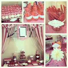 Princess theme party table October Birthday, Baby First Birthday, 4th Birthday, Birthday Ideas, Pink Parties, Theme Parties, Sweet Corner, Princess Theme Party, Party Items