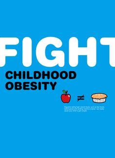 Children obesity poster