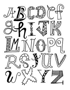 Creative Ways To Write Letters amazon: inkadinkado doodle alphabet clear stamps | tangling