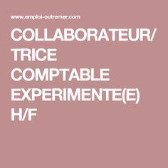 COLLABORATEUR/TRICE COMPTABLE EXPERIMENTE(E) H/F