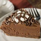 Chocolate mousse pie.