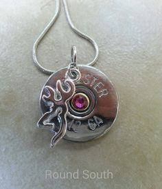 Shotgun shell bullet jewelry Winchester 12 GA bullet necklace browning necklace by RoundSouth, $19.99