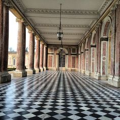 https://flic.kr/p/qQyhYw | Grand Trianon - gorgeous summer palace at Versailles :) Love this floor! #upsticksandgo #grandtrianon #palace #versailles #tourist #paris #blackandwhite #travelgram #travellingtheworld #michfrost