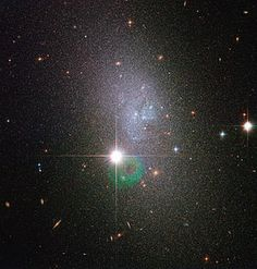 UGC 5692 is a Magellanic spiral galaxy located 13 million light years away in the constellation of Ursa Major. An alternate designation DDO 82 is named for the David Dunlap Observatory Catalogue.