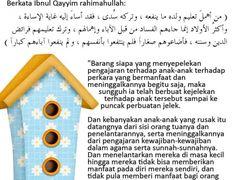 SEBAB KERUSAKAN PADA ANAK Islam