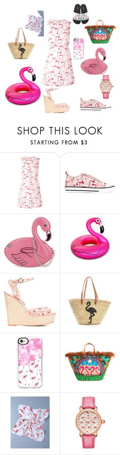 Falmingo by julie62129 on Polyvore featuring mode, RED Valentino, Big Mouth, Sophia Webster, Skinnydip, Aranáz, Michele and Casetify