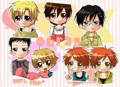 Chibi Ouran High School Host Club They are so cute! Ouran Highschool Host Club, Ouran Host Club, High School Host Club, Hikaru Y Kaoru, Host Club Anime, Manga Box Sets, Desu Desu, Gekkan Shoujo Nozaki Kun, Kaichou Wa Maid Sama