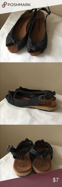 New Directions polka dot flats Polka dot flats - peep toe style - adjustable strap - size 8 new directions Shoes Flats & Loafers