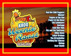 KROQ Weenie Roast 2016 Lineup Revealed