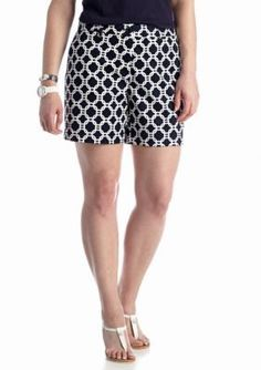 crown  ivy   Plus Size Chain Link Printed Short