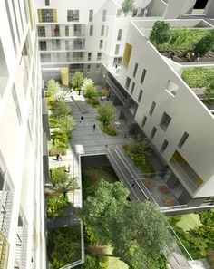 MFR Architectes / Projets / TERRASSES PARTAGEES - 105 logments en accession libre et 3 commerces pour VINCI Immobilier - Zac Chandon République à Gennevilliers - 92