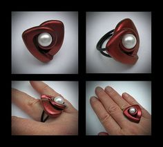 My first ring! by Helen Breil, via Flickr  Based on one of my Shapes from the book.