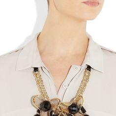 Marni: Collar con perlas negras de resina Joyas, complementos, tendencias y marcas   Joyas, complementos, tendencias y marcas