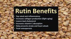 #nutrition #diet #weightloss  Rutin benefits and uses for skin, hemorrhoids, blood clots , arthritis , varicose veins and powerful anti inflammatory.