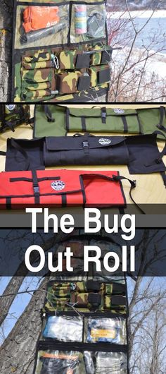 The Bug Out Roll. Instead of digging through your bug out bag looking for small items, you can just unroll this canvas bag and have everything laid out where you can find it.