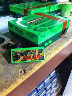 Teenage Mutant Ninja Turtles Custom Nintendo With Controller by doyledean | NES system modification