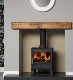 ACR Malvern DEFRA Approved Wood Burning - Multi Fuel Stove, available in stunning matt black, or a range of enamel finishes. All Stoves come with Free Delivery as standard. Wood Burner Fireplace, Cosy Fireplace, Build A Fireplace, Fireplace Design, Fireplace Ideas, Country Fireplace, Fireplace Kitchen, Log Burner Living Room, Living Room Lounge