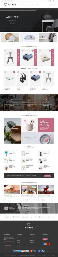 Vonia is fabulous responsive Bootstrap #template for multipurpose eCommerce #website with 4 homepage layouts. #decor #shop Download Now!