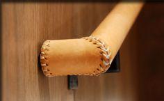 Leather Wrapped Hand Rail - Brandner Design