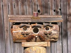 Rustic Hobbit Style Bird House by WildWestWoods on Etsy, $52.50