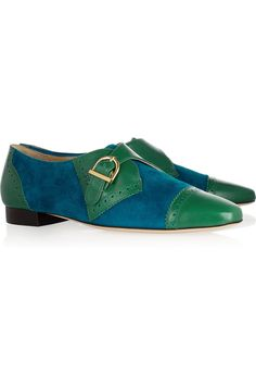Wonderfully jazzy! Suchet leather and suede loafers by Charlotte Olympia