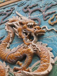 Dragon Screen detail from Beihai Park, Beijing, China by nataliegoes