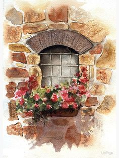 """""""A Window from Civita, Tuscany, Italy"""" Canvas Print by LinFrye   Redbubble"""