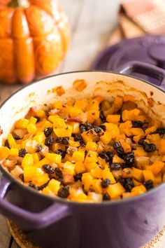 Butternut squash + apple + pulled pork = dinner nirvana.  Get the recipe at The Healthy Foodie.