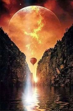 Moon Lovers, golden glow painting idea with balloon. Beautiful Moon, Beautiful World, Beautiful Places, Pretty Pictures, Cool Photos, Shoot The Moon, Nature Pictures, Amazing Nature, Belle Photo