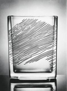 Vizner Vase 1965. Pressed glass. 18x25 cm