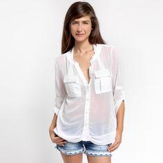 Διάφανο πουκάμισο 19,90€ #shirts #seethrou #womenfashion
